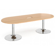 Babstock Power Ready Radial End Boardroom Table