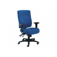 Charney 24 Hour Fabric Operator Chair (Blue)