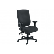 Charney 24 Hour Fabric Operator Chair (Black)