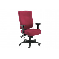Charney 24 Hour Fabric Operator Chair (Ruby)