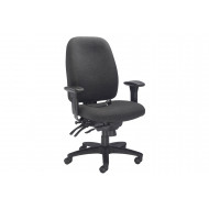 Rocha 24 Hour Fabric Operator Chair (Charcoal)