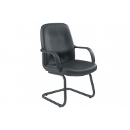 Dulce Leather Faced Visitor Chair