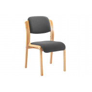 Burch Stacking Side Chair (Charcoal)