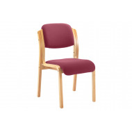 Burch Stacking Side Chair (Burgundy)