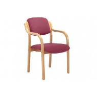 Next-Day Burch Stacking Armchair (Burgundy)