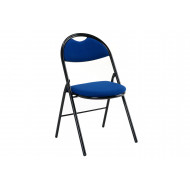 Latta Fabric Folding Chair (Blue)