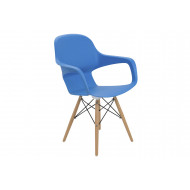 Next-Day Booth Wire Base Bistro Chair (Blue)