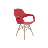 Next-Day Booth Wire Base Bistro Chair (Red)
