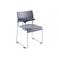 Barron Skid Base Conference Chair With Writing Tablet
