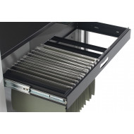 Roll out filing frame for value line metal tambour door cupboards