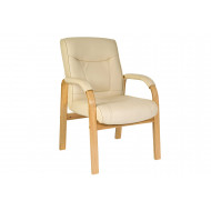 Knightsbridge Oak/Cream Visitor Chair