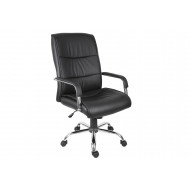 Kirkby Executive Leather Faced Chair (Black)