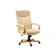 Knightsbridge Executive Chair Oak/Cream