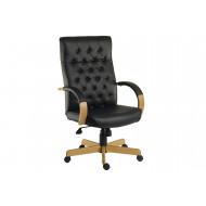Warwick Leather Faced Executive Chair (Black)