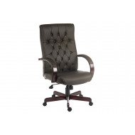 Warwick Leather Faced Executive Chair (Brown)