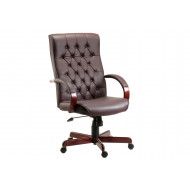 Warwick Leather Faced Executive Chair (Burgundy)