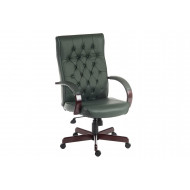 Warwick Leather Faced Executive Chair (Green)