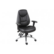 Porto Leather Faced Operator Chair