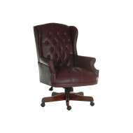 Chairman Swivel Chair Burgundy
