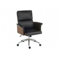 Panache Medium Back Executive Leather Chair Black