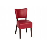 Surgal Upholstered Side Chair With Walnut Frame