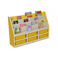 Thrifty 3 Compartment Book Storage With 6 Trays