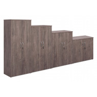 Thrifty Next-Day Double Door Cupboards Grey Oak