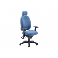 Iton High Back Operator Chair With Headrest & Height Adjustable Arms
