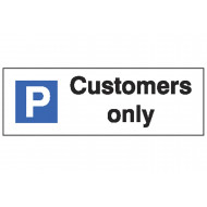 Customers Only Car Park Sign