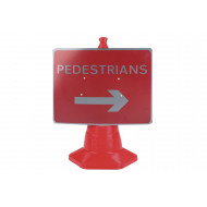Pedestrians Right Traffic Sign For Traffic Cones