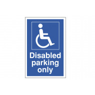 Disabled Parking Only Polycarbonate Parking Sign