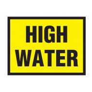 High Water Stanchion Sign