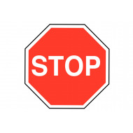 Stop Class 1 Reflective Traffic Sign
