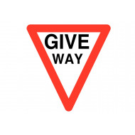 Give way class 1 reflective traffic sign