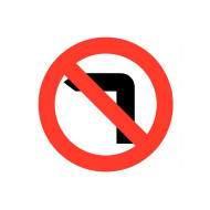No Left Turn Class 1 Reflective Traffic Sign