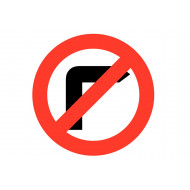 No Right Turn Class 1 Reflective Traffic Sign