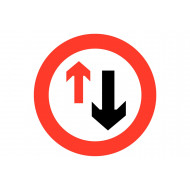 Right Of Way Class 1 Reflective Traffic Sign (Circular)