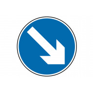 Arrow down right class 1 reflective traffic sign