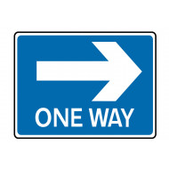 One Way Right Class 1 Reflective Traffic Sign