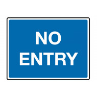 No Entry (Text) Class 1 Reflective Traffic Sign