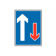 Right Of Way Class 1 Reflective Traffic Sign (Rectangular)