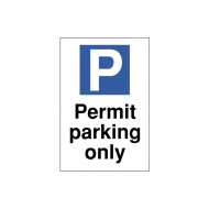Permit Parking Only Polycarbonate Parking Sign