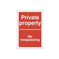 Private Property No Trespassing Polycarbonate Parking Sign