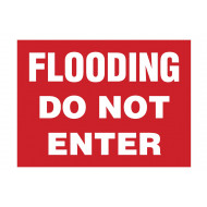 Flooding Do Not Enter Stanchion Sign
