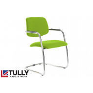 Tully Half Back Visitor Chair With Chrome Frame
