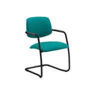 Fairlie Half Back Chair With Cantilever Frame