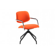 Swanston Half Back Conference Chair With Pyramid Base
