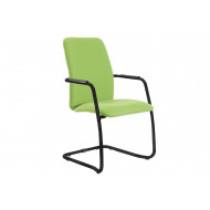 Tully Full Back Visitor Chair With Black Frame