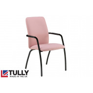 Tully Full Back Conference Chair With Black Frame