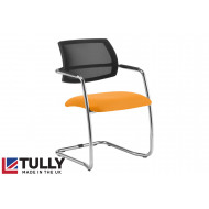 Tully Half Mesh Back Visitor Chair With Chrome Frame